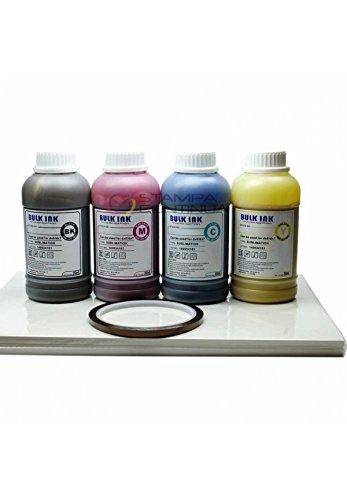 Set Sublimation: 4x 250ml Tinte-Sublimation + Papier Sublimation/Transfer A3+ Band Thermo (Thermo-transfer-papier)