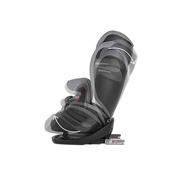 cybex Gold Pallas S-Fix Car Seat, Group 1/2/3, Manhattan Grey  Group 1/2/3 combination car seat. suitable from 9 - 36kg. designed to be used until a maximum height of 150cm, approximately 12 years. The optimized impact shield of the pallas s-fix reduces the risk of serious neck injuries without confining the child. shield suitable until 18kg. The integrated lisp. system offers increased safety in the event of a side-impact collision by reducing the forces by approximately 25%. 5