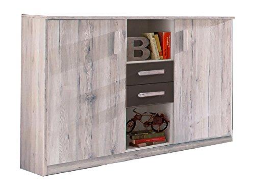Wimex Highboard Cariba, (B/H/T) 105 x 41 x 124 cm, Weißeiche