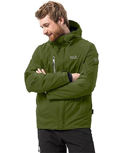 Jack wolfskin uomo tropo sphere men invernale wander giacca impermeabile antivento traspirante protezione dalle intemperie, uomo, 1106901-4521002, verde cipresso, s