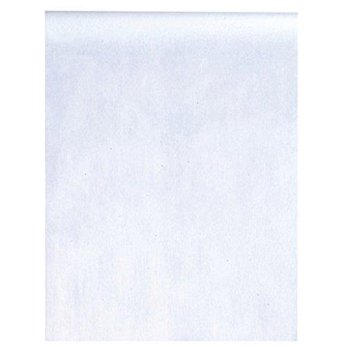 m lang) Tischläufer Deko-Vlies Party Hochzeits-Dekoration (weiß) ()