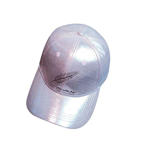 men Herren Kappen Adult Fashion Rose Stickerei Cotton Baseball Mütze Sun Casp (aAround 56-61 cm, Grau(feather)) (Frauen Baseball-kappen)