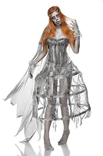 Zombie Braut Kostüm Weiß/Grau M