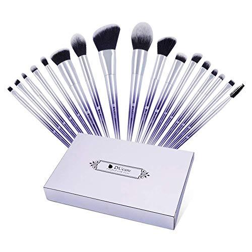 17 Brochas De Maquillaje Unidades Pinceles De Maquillaje Set Lila Plata Color Profesional Essential Foundation Polvo Sombras Cejas Herramienta Pincel Kosmetisches