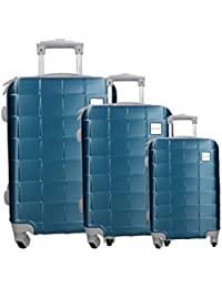36e86a960 3 Maletas rígidas set azul cabina PIERRE CARDIN PVC equipaje de mano VS345