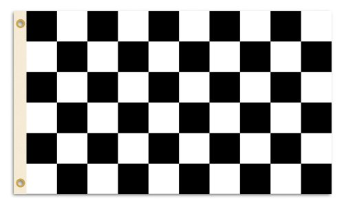 BSI Nascar Checkered 3-by-5Fuß Flagge mit Tüllen