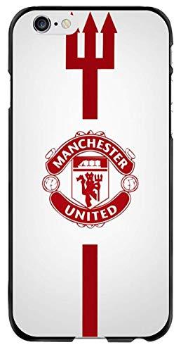 Schutzhülle mit Manchester United F.C.Football Club, kompatibel mit iPhone 6 Plus 6S Plus, iPhone 6 6s Plus, C Signature