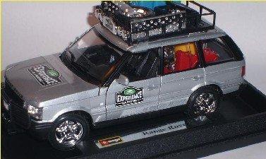 Bburago Land Rover Range Rover Experience Safari Silber 2. Generation 1994-2002 1/24 Modell Auto mit individiuellem Wunschkennzeichen (Rover 1999 Range)