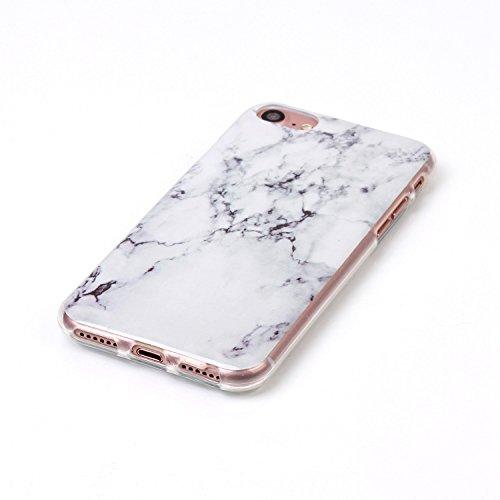iPhone 7 Hülle,iPhone 7 Case, Cozy Hut Kreativ Design 3D Transparent TPU Hard Case Hülle Diamond Sequins Hülle Tasche Handyhülle Glitter Glitzer Sparkle Hart Plastik HardCase Crystal Clear Rückseite H Marmor