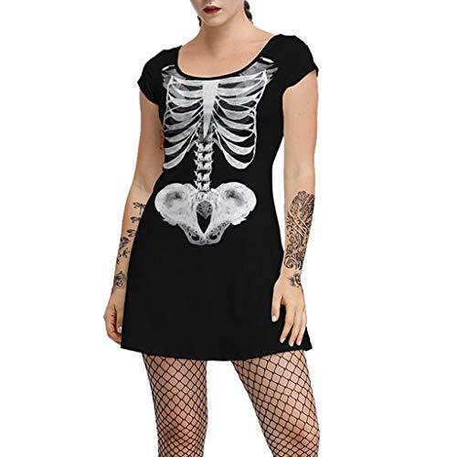 Rockabilly Wolf Kostüm - Writtian Damen Halloween Pumpkin Spinnennetz Fledermäuse