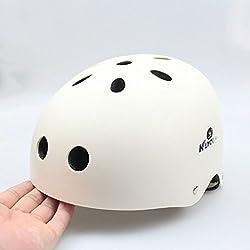 Matry Casco de bicicleta de aire para el ciclismo de carretera y montaña Ciclismo de seguridad para los hombres y las mujeres adultos, niños y niñas adolescentes Niños Ajustable para los deportes de protección Juego de engranajes de protección Protector de seguridad ( Color : White , Size : S )