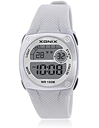 Reloj electrónico digital de múltiples funciones de los ni?os,Plaza jalea led 100 m resina resistente al agua alarma cronómetro hora dual chicas o chicos moda reloj de pulsera-C