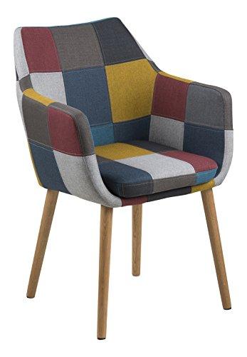 AC Design Furniture Stuhl Trine, B: 58 x T:58 x H: 84 cm, Metall, Mehrfarbigen