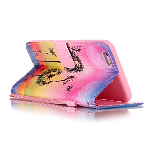 iPhone 6 Plus/6S Plus Hülle im Bookstyle, Xf-fly® PU Leder Flip Wallet Case Schutzhülle für Apple iPhone 6 Plus/6S Plus Tasche Handytasche mit Magnetverschluss Kartenfach Standfunktion Muster Handyhül P-7