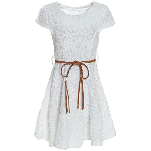 Drei Coole Kostüm Für Mädchen - BEZLIT Kinder Mädchen Kleid Peticoat Fest Freizeit Sommer-Kleider Kostüm 21228 Weiß Größe 104