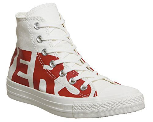 Converse Hi chaussures Blanc Rouge