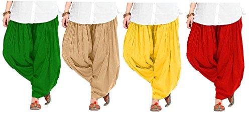 K's Creations Women's Patiala Bottoms(KC2SP10 _multicoloured_Free Size)