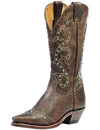 Botas de los EE.UU.-Botas, botas de cowboy BO-1682-50-C (pie normal), diseño de mujer, color marrón
