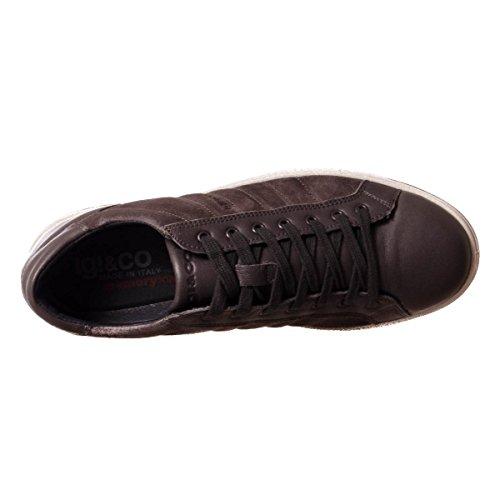 Igi&Co 87253/00 uomo, pelle scamosciata, sneaker bassa Nappa Velvet/Grigio