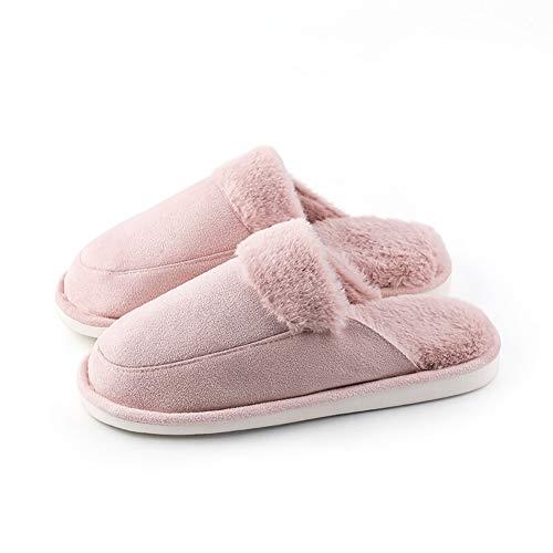 coton pantoufles chaussons maison chaussures anti-slip pantoufles intérieur  pantoufles- pantoufles en coton À fourrure chaude e b526d0e5aa94