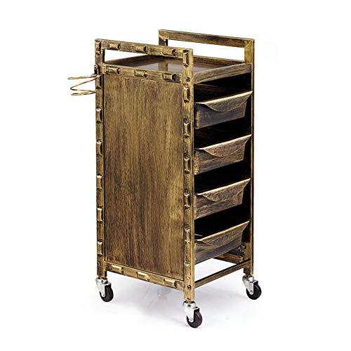 Zzyq Multi-Use-Metallrahmen Friseur Storage Trolley 5-Schicht-Mobil-Werkzeugschrank,A33