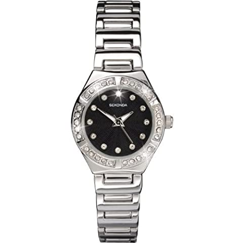 Sekonda Ladies Crystal Bezel Crystal Dial And Silver Tone Bracelet