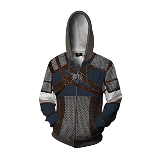 Rabbit sister Männer 3D Hooded The Witcher 3 Sweatshirt Druck Langarm Mantel Outwear Cosplay Kostüm - Ruhige Cosplay Kostüm