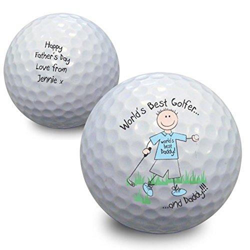 World's Best Golfer Golf Ball Personalised Birthday