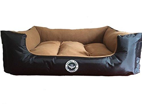 Loving Care Pet Products Ultra Supreme Lounger Style Pet Bed Hund, Katze und Tierbett. Waschbar und wasserdicht. Erhältlich in 3 Größen, 4 Farben und ein Muster (XL = 100 cm x 80 cm, GOLD)