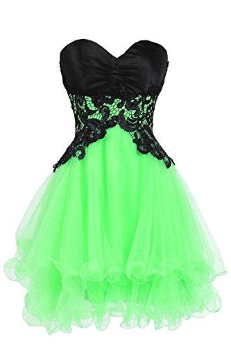 Fanciest Women' Spitzen Abendkleid Homecoming Dresses 2016 Kurz Cocktail Dress Lime Green 56 (Lime-grün-cocktail-kleid)