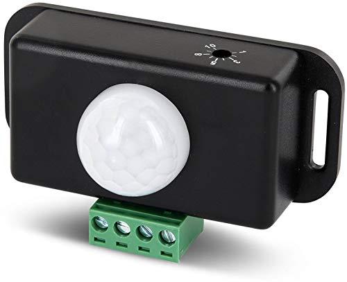 12V-24V Mini Einbau IR Bewegungsmelder - LED geeignet - ideal für LED Leuchten + Lichtband