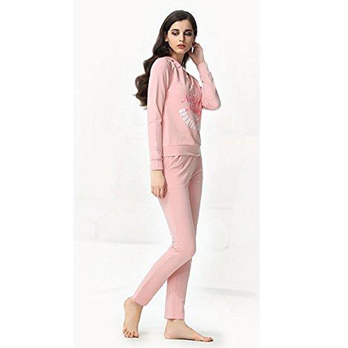 CHUNHUA Mme casual coton tricot à manches longues pyjama survêtement , pink , l (160/84a) Pink