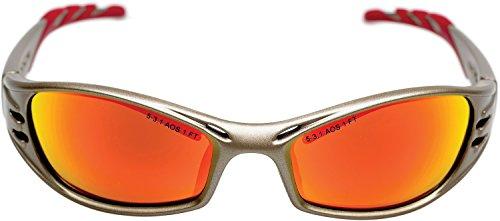 3M Schutzbrille, Fuel, UV, PC, Rahmen Titanium, inklusive Mikrofaserbeutel, 1 Stück, rot verspiegelt, Fuel9T