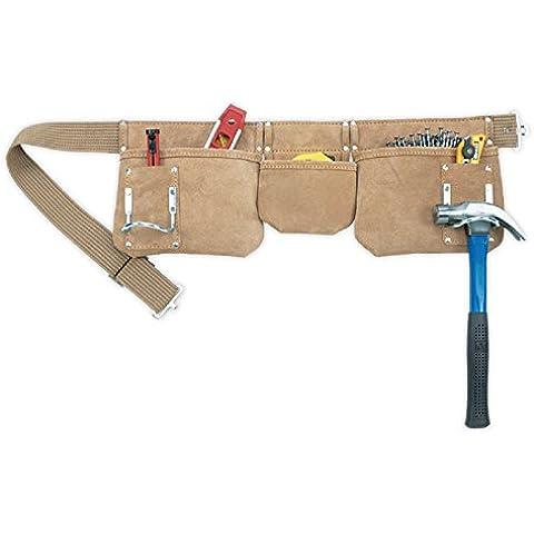 Kunys AP1300 - Cinturón de piel con bolsillos para herramientas