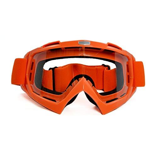 WOQUXIA Motorradbrille Motocross Eyes Bike Cross Point Flexible Sport Racing Schutzbrille Klare Linse Moto Brille