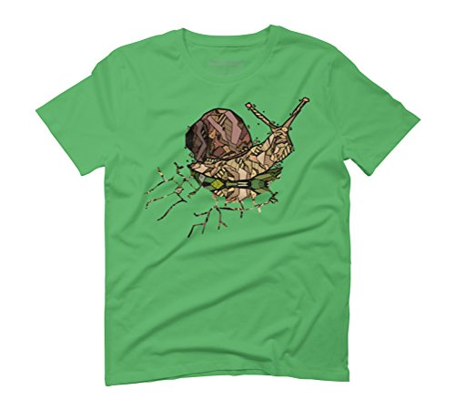 ABSTRACT SNAIL Men's Graphic T-Shirt - Design By Humans Green