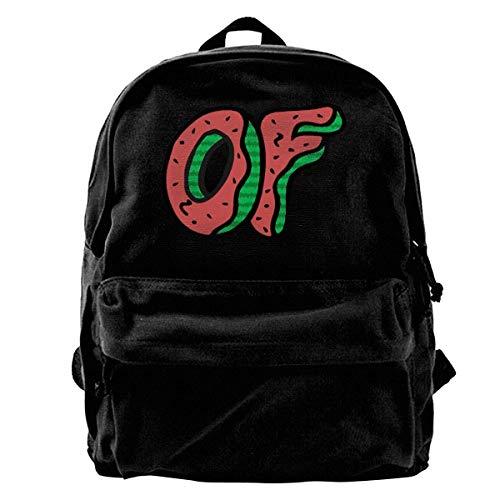 NJIASGFUI Rucksack aus Segeltuch Odd Future Wassermelone Donut Rucksack Gym Wandern Laptop Schultertasche Daypack für Männer Frauen