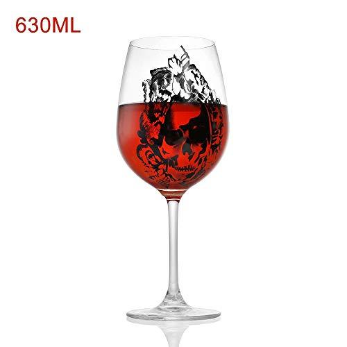 KDGB 1 Stücke Cool Design Weinglas Horror Tasse Schädel Becher Schädel Für Liebhaber Halloween Thema Parteien