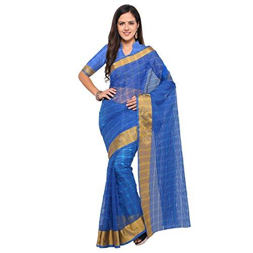 sarvagny clothing art silk royal blue color daily wear party wear saree...