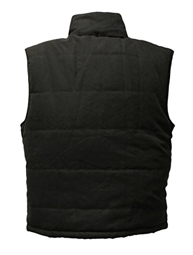 417 jh3N36L - Warmawear Men's Battery Heated Waistcoat Jacket with Collar (S/M) Black