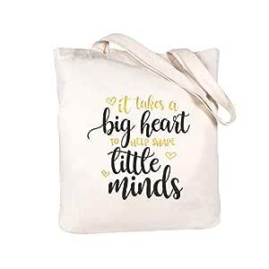 Caraknots Teacher Appreciation Gifts Teacher Gifts Bag Canvas Teacher Bag and Tote with Pocket Teacher Tote Bag 100% Cotton