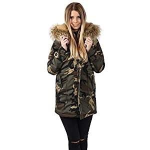 Freshlions-Damen-Parka-Camouflage-mit-herausnehmbarer-XXL-Fellblende-aus-Kunstfell