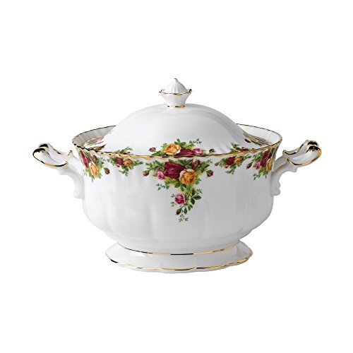 Old Country Roses Suppenterrine, 4,1 kg (146 Unzen) gold Old Country Roses Bone China