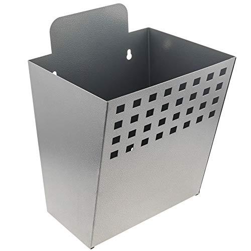 PrimeMatik - Contenedor metálico para montaje en pared. Buzón para revistas y periódicos. Color gris (BZ098)