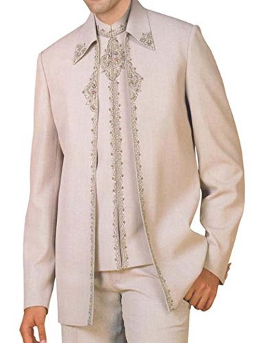 INMONARCH da indiano, alla moda, colore: mandorla, 3 pezzi, ideale per matrimoni, PW147 Partywear, uomo Mandorla