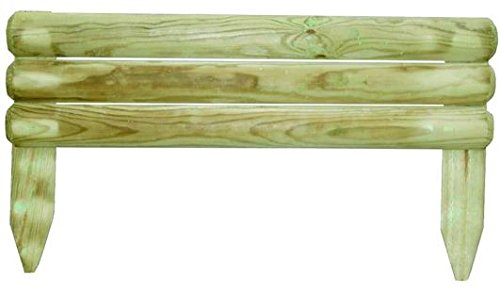 Bordura recinzione per aiuole in legno di pino autoclavato for Bordura giardino