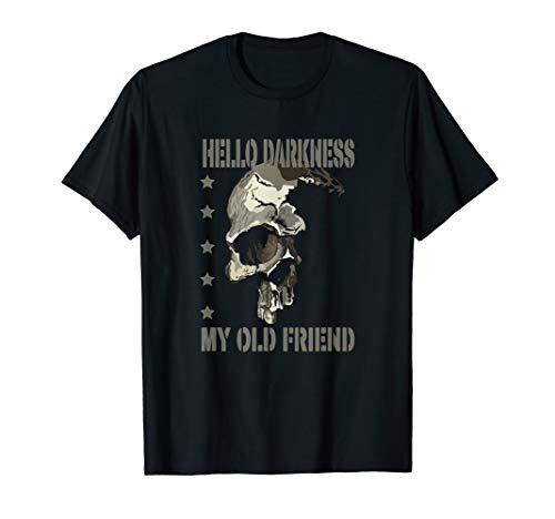 Hello darkness my old friend shirt, T-Shirt, vintage - Dunkel Blau Grafik T-shirt