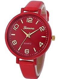 Relojes de moda low cost para mujeres elegantes con correa de falso cuero y Relojes Low Cost Para Mujeres Online…