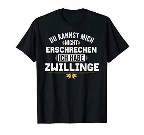 Papa Mama Zwillinge I Spruch Vater Mutter Lustiges Zwillinge T-Shirt