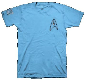 Star Trek Ladies Crew T-Shirt Destination London (Small, Blau) (Womens Star Trek Kostüme Tshirt)